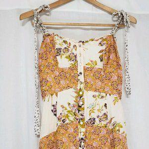 Free People Summer Festival Dress Patchwork Boho